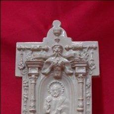 Antigüedades: PRECIOSA BENDITERA DE BARRO TRIANERO...??. Lote 122540511