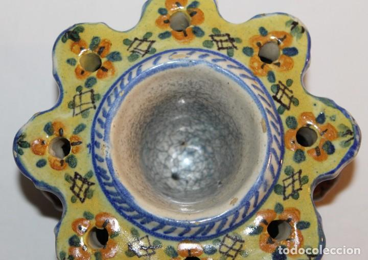 Antigüedades: TINTERO EN CERÁMICA ESMALTADA DE TRIANA - PRINCIPIOS DEL SIGLO XX - Foto 6 - 122545855