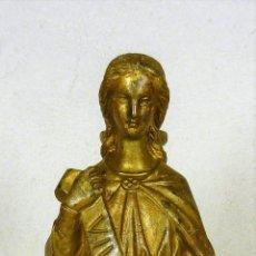 Antigüedades: ESCULTURA DE VIRGEN EN BRONCE DEL SIGLO XIX VIVE JESÚS. Lote 122546543