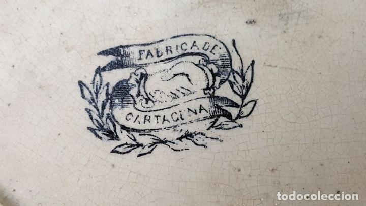 Antigüedades: PLATO DE PORCELANA. ESCENA POPULAR ESTAMPADA. FABRICA DE CARTAGENA. SIGLO XIX-XX. - Foto 5 - 122555855
