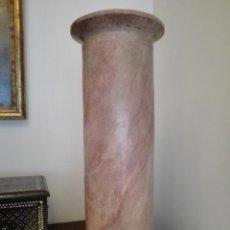 Antigüedades: COLUMNA - PEDESTAL - TERRACOTA POLICROMADA - SIGLO XVIII. Lote 46421699