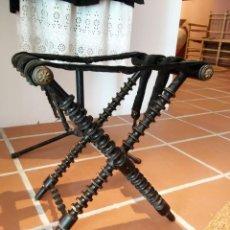 Antigüedades: ANTIGUA SILLA CATRET O BANQUETA DE MISA VALENCIANO SIGLO XIX. Lote 122563895