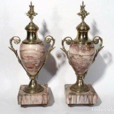 Antigüedades: PAREJA DE COPAS. MÁRMOL, Y BRONCE.S.XIX-XX. Lote 122565747