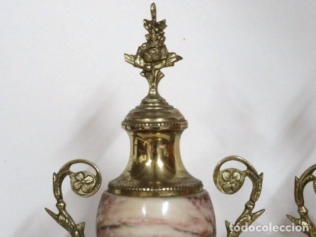 Antigüedades: Pareja de copas. Mármol, y bronce.S.XIX-XX - Foto 2 - 122565747