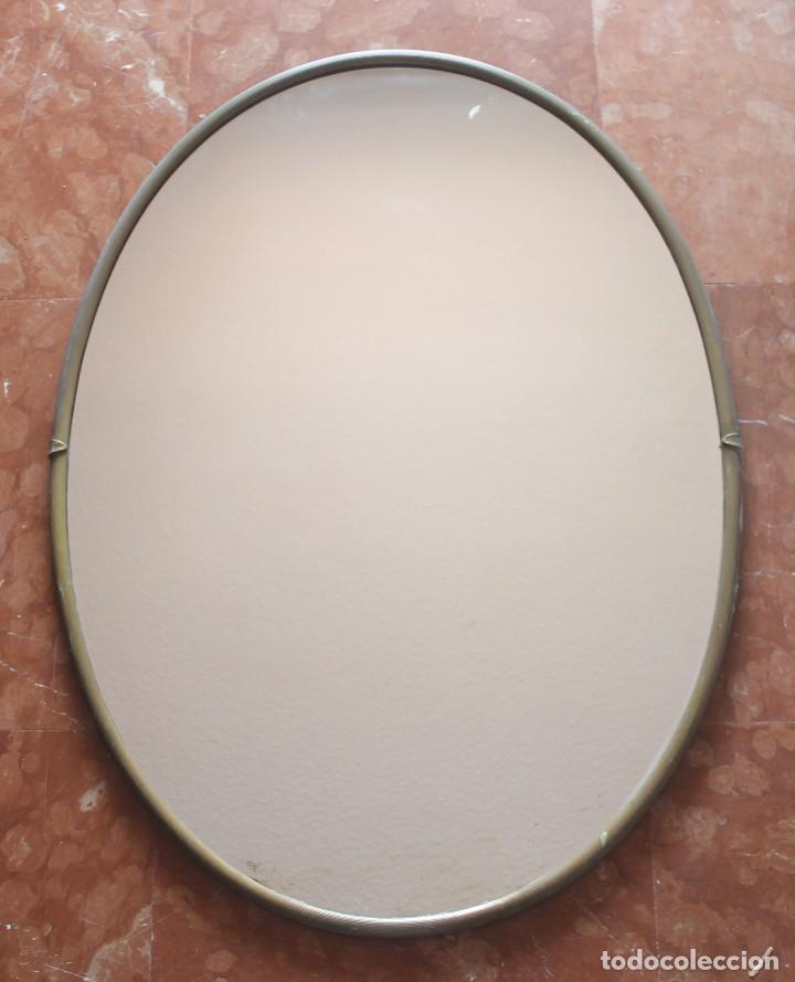 muy antiguo espejo ovalado con marco redondeado - Comprar Espejos ...