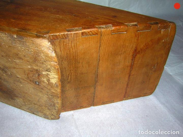 Antigüedades: MEDIDA PARA EL GRANO UN CUARTO DE FANEGA - Foto 6 - 122580043