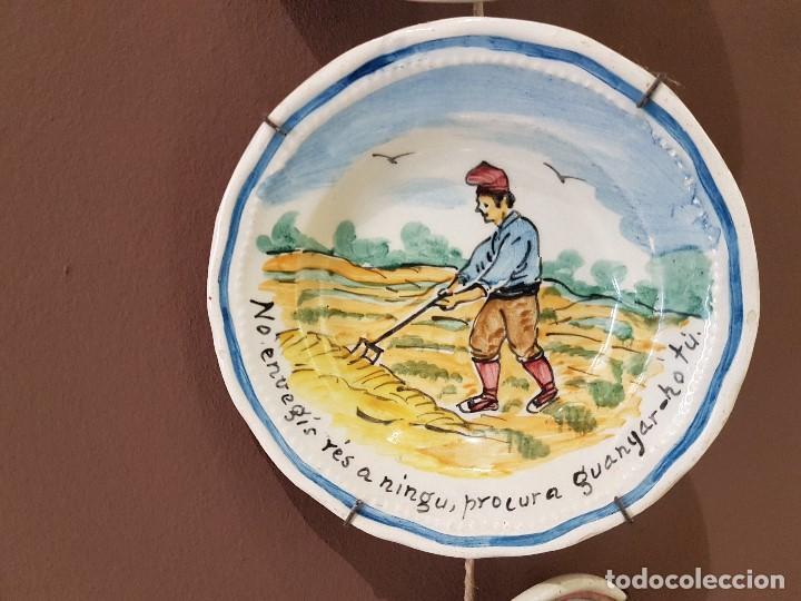 Antigüedades: 8 PLATOS ANTIGUOS DE DUARTE, CON REFRANES. TAL CUAL SE VEN. - Foto 6 - 122594227
