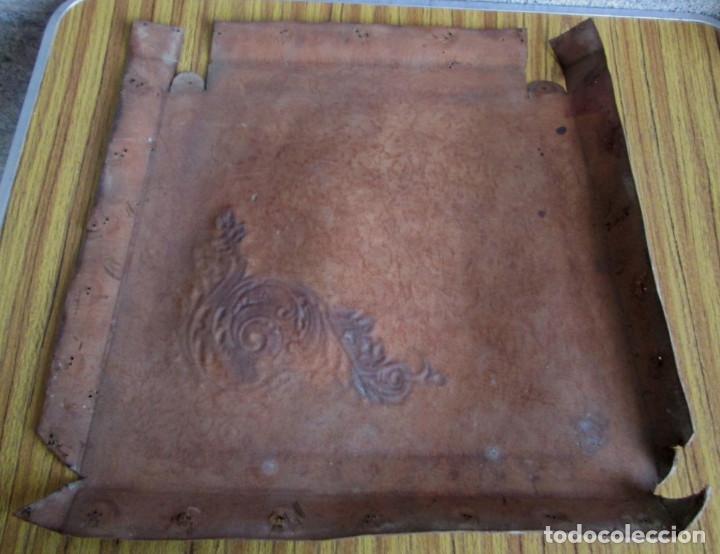 Antigüedades: UN ASIENTO de cuero - Foto 2 - 122612535