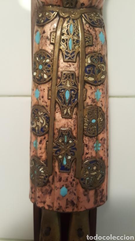Antigüedades: GRAN CRUCIFIJO CON CRISTO CON ESMALTES - Foto 8 - 122620714