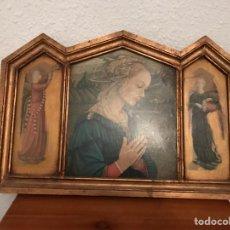Antigüedades: ANTIGUO RETABLO PAN DE ORO. Lote 122627943