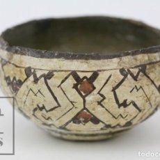 Antigüedades: ANTIGUO CUENCO / VASIJA ARTESANAL DE CERÁMICA POLICROMADA - ARTE ÉTNICO - MEDIDAS 10 X 10 X 5 CM. Lote 122646515