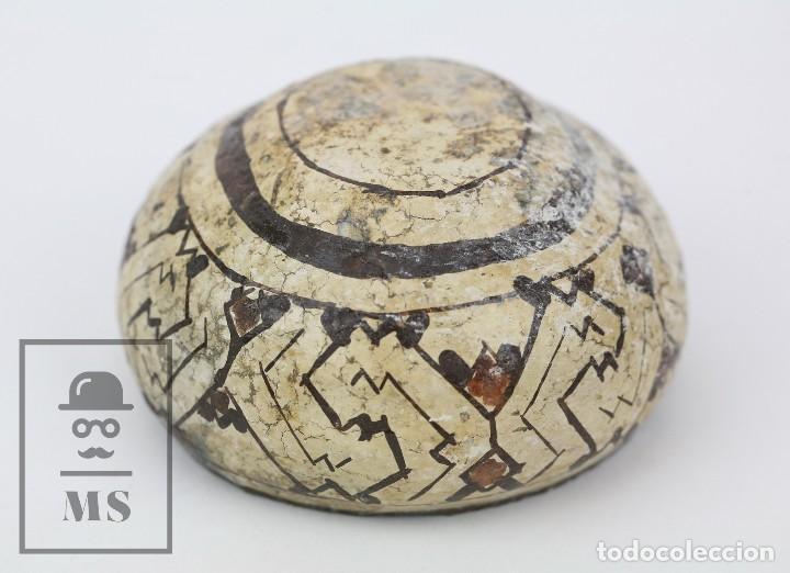 Antigüedades: Antiguo Cuenco / Vasija Artesanal de Cerámica Policromada - Arte Étnico - Medidas 10 x 10 x 5 cm - Foto 5 - 122646515