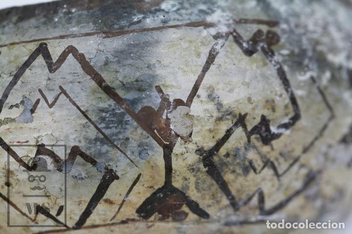 Antigüedades: Antiguo Cuenco / Vasija Artesanal de Cerámica Policromada - Arte Étnico - Medidas 10 x 10 x 5 cm - Foto 6 - 122646515