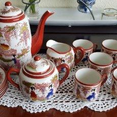Antigüedades: JUEGO DE CAFÉ DE PORCELANA JAPONESA 6 SERVICIOS.. Lote 122647791