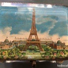 Antigüedades: MAGNIFICO Y ANTIGUO JOYERO CAJA RECUERDO DE LA EXPOSICION UNIVERSAL 1889 PARIS. Lote 122648603