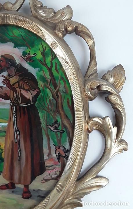 Antigüedades: PAREJA DE CORNUCOPIAS ISABELINAS. PINTURA FIRMADA M. RIBAS. ESPAÑA. SIGLO XIX. - Foto 5 - 122648823