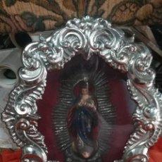 Antigüedades: RELICARIO ANTIGUO CON VIRGEN. Lote 122663219