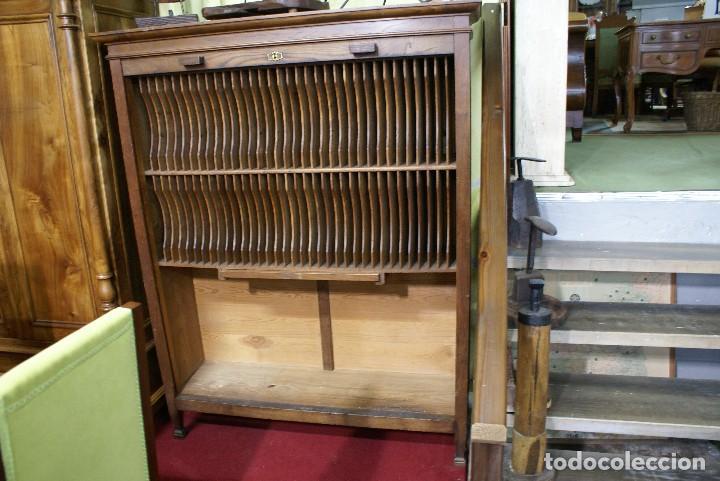 Antigüedades: Archivador para discos - Foto 2 - 122693071