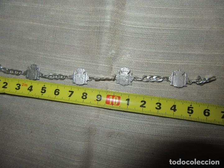 Antigüedades: PULSERA DE PLATA CON ESCUDOS DE ESPAÑA - Foto 4 - 122703171