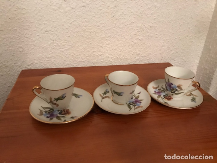 JUEGO DE 3 TAZAS PORCELANA LIMOGES (Antigüedades - Porcelana y Cerámica - Francesa - Limoges)