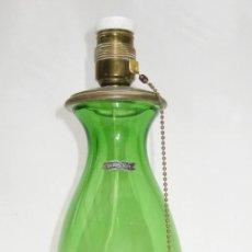 Antigüedades: LAMPARA ANTIGUA VINTAGE MIDCENTURY NORDICA CRISTAL Y LATON . Lote 122740519