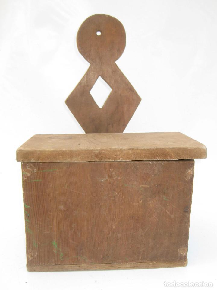 Antigüedades: BONITO MUEBLE ANTIGUO CUCHARERO IDEAL DECORACION COCINAS ANTIGUAS VINTAGE - Foto 2 - 122741707