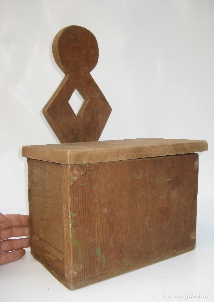 Antigüedades: BONITO MUEBLE ANTIGUO CUCHARERO IDEAL DECORACION COCINAS ANTIGUAS VINTAGE - Foto 3 - 122741707