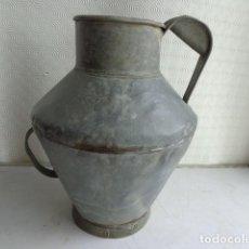 Antigüedades: MUY ANTIGUA (FINALES 1800) Y RARA MEDIDA DE ZINC, TOTALMENTE COMPLETA Y EN BUEN ESTADO. Lote 122743683