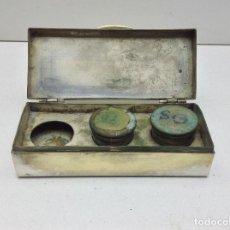 Antigüedades: ANTIGUA CRISMERA PARA LOS SANTOS OLEOS- METAL PLATEADO. Lote 122752595