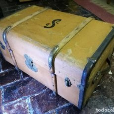 Antigüedades: ANTIGUO BAÚL DE VIAJE - MUNDO - MALETA - PRINCIPIOS SIGLO XX . Lote 122753887