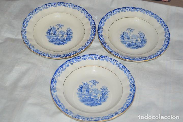 VINTAGE - LOTE DE 3 PLATOS HONDOS - LA CARTUJA PICKMAN SEVILLA - 1900, 1965 - ENVÍO 24 - 02 (Antigüedades - Porcelanas y Cerámicas - La Cartuja Pickman)