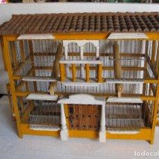 Antigüedades: PRECIOSA JAULA ARTESANA PARA PAJAROS . Lote 79930453
