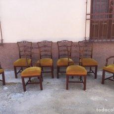 Antigüedades - Conjunto de sillería 6 sillas y 2 sillones - 122864919