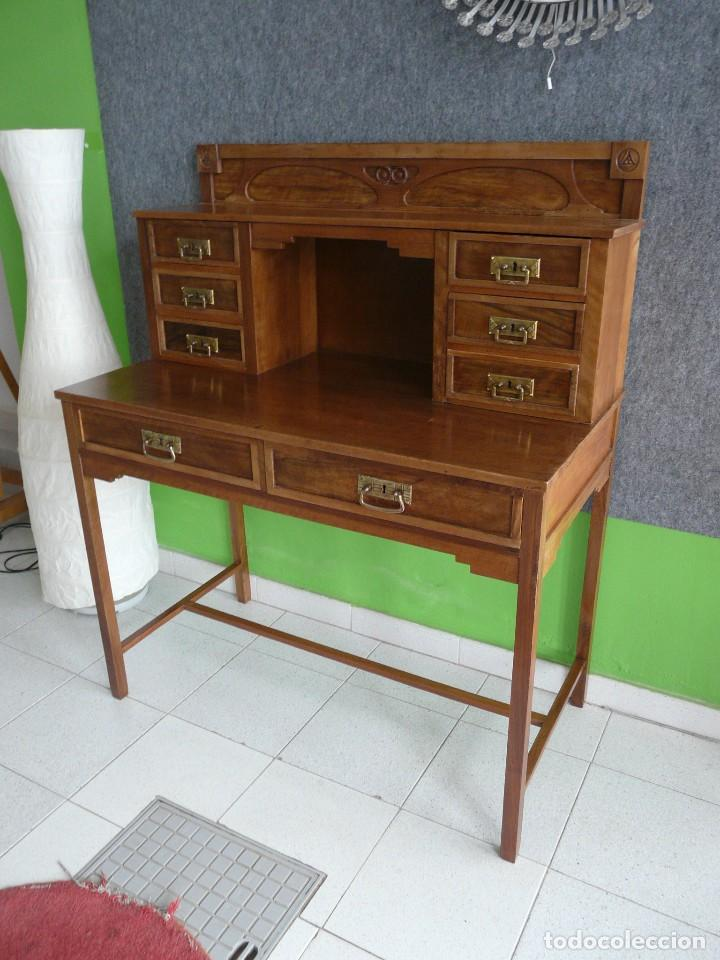 Antigüedades: escritorio modernista de cerezo. - Foto 3 - 122867743