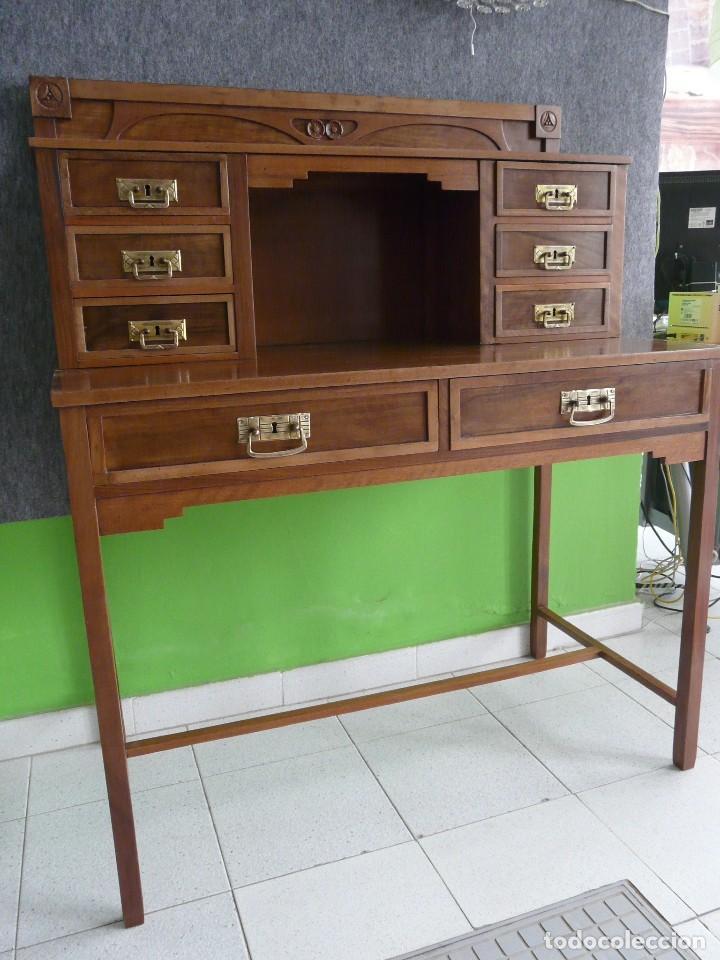 Antigüedades: escritorio modernista de cerezo. - Foto 4 - 122867743