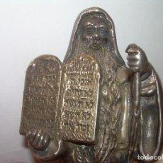 Antigüedades: MOISES...ANTIGUA FIGURA DE PLATA..925...PESO 156,10 GMS....SIGLO XIX.. Lote 122868223