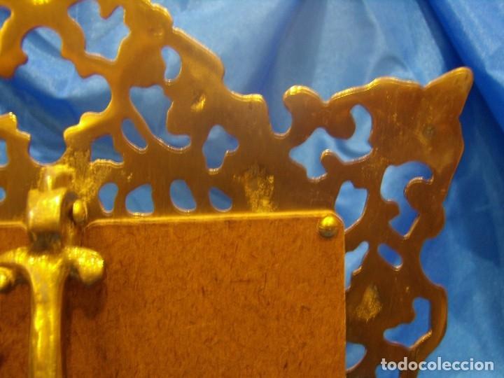 Antigüedades: Marco portafotos de Bronce dorado Barroco,años 60,para fotos de18 x 13cm,tamaño portafo29x22cm,Nuevo - Foto 10 - 86937892