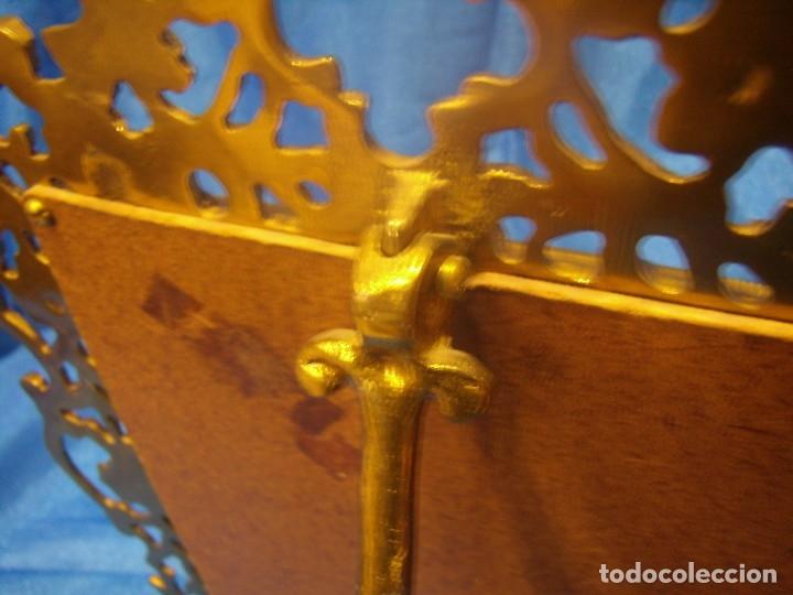 Antigüedades: Marco portafotos de Bronce dorado Barroco,años 60,para fotos de18 x 13cm,tamaño portafo29x22cm,Nuevo - Foto 16 - 86937892