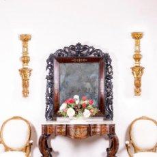 Antigüedades: CONSOLA ANTIGUA CON ESPEJO. Lote 122874003