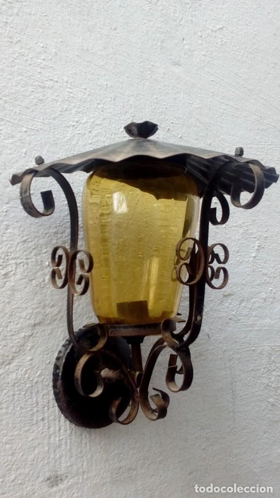 Antigüedades: Aplique farol de patio - Foto 4 - 122893231