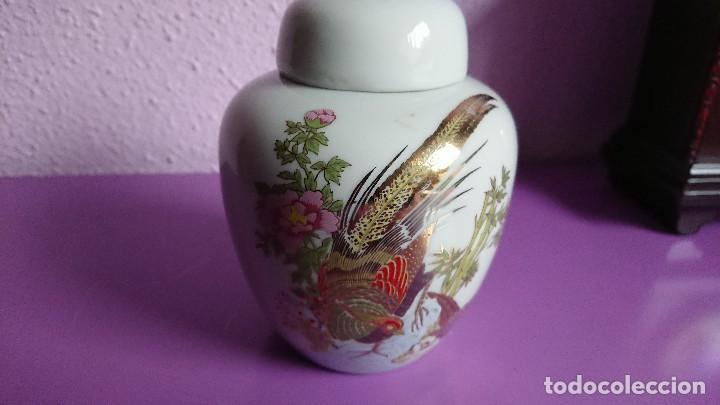 ANTIGUO TIBOR PORCELANA TAIWANESA (Antigüedades - Porcelanas y Cerámicas - China)