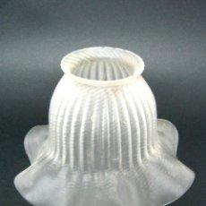 Antigüedades: BELLA TULIPA ANTIGUA DE CRISTAL FUMÈ - PARA LAMPARA O APLIQUE. Lote 122913675