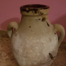 Antigüedades: ORZA TINAJA CERÁMICA POPULAR PARCIALMENTE VIDRIADA. Lote 122924479