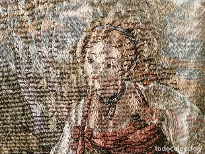 Antigüedades: ANTIGUO TAPIZ DE GRAN CALIDAD, MUY BIEN CONSERVADO, SIGLO XX, 50 X 50 CM. TAL CUAL SE VE. - Foto 8 - 122962439