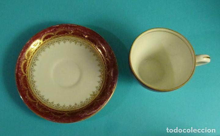 Antigüedades: TAZA Y PLATO DE PORCELANA. MARCA EN BASE SANTA CLARA, VIGO - Foto 4 - 122963095