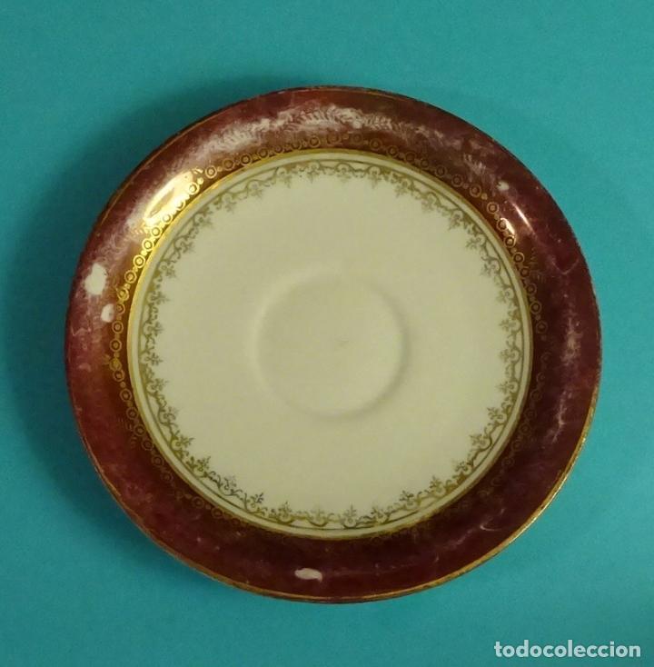 PLATO DE PORCELANA. MARCA EN BASE SANTA CLARA, VIGO (Antigüedades - Porcelanas y Cerámicas - Santa Clara)