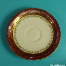 Antigüedades: PLATO DE PORCELANA. MARCA EN BASE SANTA CLARA, VIGO. Lote 122963347