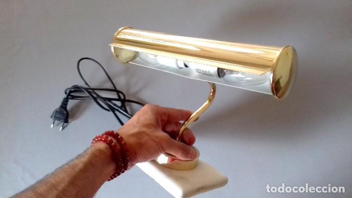 Antigüedades: Lampara de mesa con mármol - Foto 2 - 122970603
