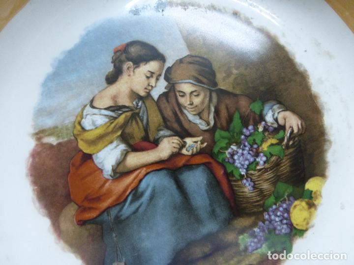 Antigüedades: PORCELANA DE SAN CLAUDIO-PLATO HONDO CON BONITO DIBUJO DE ESCENAS BUCÓLICAS CAMPESINAS-ORIG. AÑOS 50 - Foto 11 - 79477249