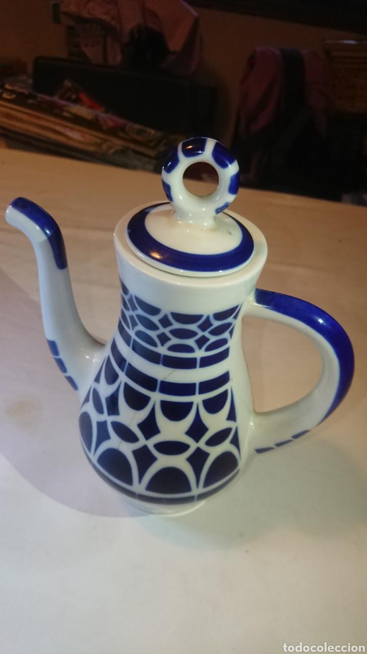 Antigüedades: Juego de Cafe Tetera Porcelana de Sargadelos - Foto 2 - 122980136
